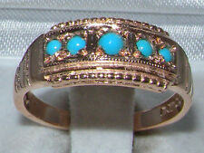 Turquoise Band Fine Rings