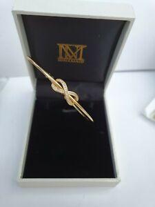 Infinity Ninamaid Bracelet infinity symbol gold plated New but Damaged box