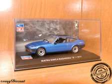 MATRA SIMCA BAGHEERA S BLUE 1:43 1977 WITH BOX ART MINT