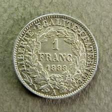1 FRANC CERES - 1888 A - Argent - SUP+