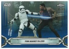 2019 Star Wars Chrome Legacy Blue Refractors 165 Finn against FN-2199 95/99