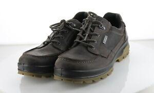 05-54 MSRP $100 Men's Sz 9 Ecco Joiner Leather Hiking Sneakers - Brown