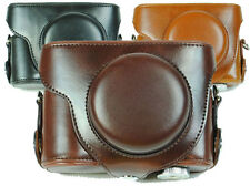 Leather camera Case Bag For Nikon Coolpix P7700 P7800 Camera  Brown