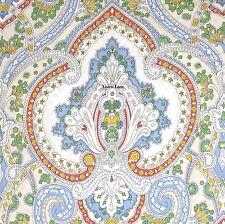 RALPH LAUREN Floral QUEEN DUVET COVER SET COTTON NWT Red Blue Yellow Green Cream