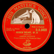 JASCHA HEIFETZ -VIOLINE- Achron: Hebrew Melody Op. 33 / Debussy: La plus...G2970