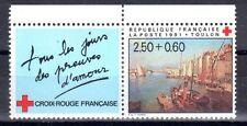 FRANCE TIMBRE CROIX ROUGE AVEC VIGNETTE 2733 ** MNH D TOULON DE F NARDI - 1991