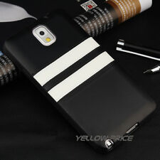 Anti-slip/dust Soft Rubber Strip Leather Case For Samsung Galaxy Note 4+3x Film
