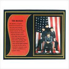 "Beatles Biography Plaque Plastic frame; glass cover. 10"" x 1/2"" x 8"" high NIB"