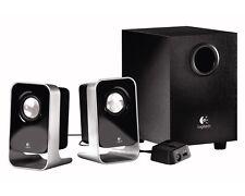 Logitech LS21 Stereo Speaker Logitech 2.1 Lautsprecher System DEFEKT für BASTLER