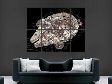 MILLENNIUM FALCON IN DETAIL  STAR WARS   IMAGE HUGE  LARGE PICTURE POSTER GIANT