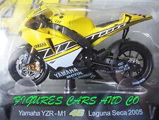 MOTO GP 1/18 YAMAHA YZR-M1 # 46 COLLECTION  ROSSI LAGUNA SECA 2005