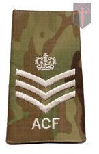 Pair Multicam MTP ACF Staff / Colour  Sergeant RANK SLIDES (  Army Cadet Force