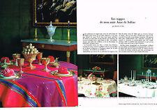 PUBLICITE 1968   ANNE DE SOLENE   nappes  (2 pages)