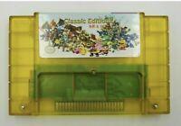 68 in 1 SNES Super Nintendo Multi Cart Game Cartridge Battery Save Custom Made