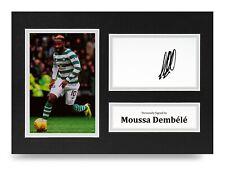 Moussa Dembele Signed A4 Photo Display Celtic Autograph Memorabilia + COA