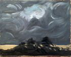 """Cloud Sunset Abstract Landscape Oil Painting Original Signed 16""""x20"""" Canvas"""
