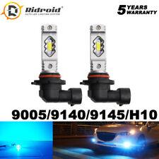 8000K Ice Blue HB3 9005 LED Headlight Bulb High Beam Headlamps Kit 9145 Foglight