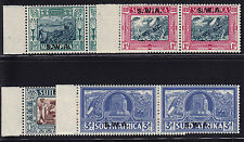 SW Africa Scott # B5 - B8 pairs VF OG  hinged nice color cv $ 125 ! see pic !