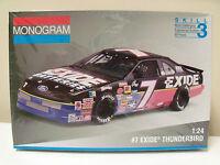 MONOGRAM #7 GEOFF BODINE EXIDE THUNDERBIRD NASCAR STOCK CAR MODEL KIT (SEALED)
