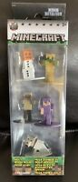 Nano Metalfigs 5 Pack Minecraft Pack A Snow Golem Tamed Wolf NEW