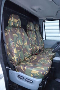 Green Camo Tailored 100% Waterproof Seat Covers Front 3 for Ford Transit MK7 MK6