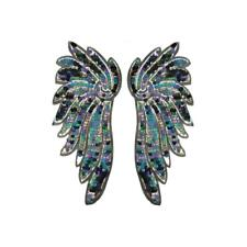 Super Sequin Multi Colour Wings XXL (Sew On) Embroidery Applique Patch Badge