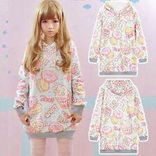 Cute Sweet Lolita Girls Doughnut Casual Long Sleeve Hoodie Sweatshirt Sweater