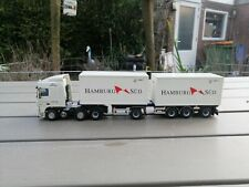 1/50 TEKNO / CONRAD  DAF XF CONTAINER  HAMBURG SUD SOME WORK  (A3)