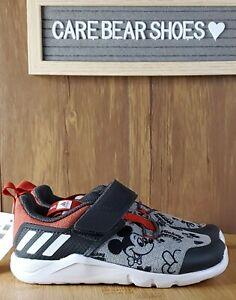 adidas RapidaFlex Mickey EL I Disney Grey Red White TD Toddler Infant EF9730