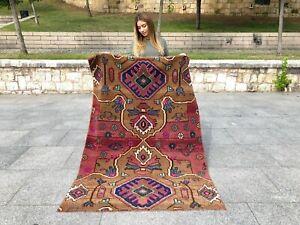 Rare Turkish Oushak Rug, Anatolian Wool, Decorative, Tribal, Unique Colorful Rug