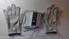 Electrostim TENS EMS Body tono Set con 2 Guantes de masaje conductiva y almohadillas! Reino Unido