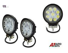 2 X 12v 24v 27W 9 Round Flood LED Work Light Spot Beam Lamp 4WD Jeep SUV ATV