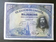 EBC+/SC- - SIN SERIE - BILLETE DE 1000 PESETAS DE 1928 - SAN FERNANDO