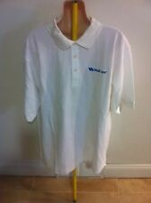 "Devon & Jones ""Well Care "" Short Sleeve Pima Cotton Polo Shirt White Solid L NWT"