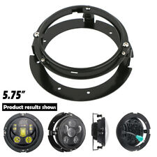 "Motorcycle 5.75 inch 5-3/4"" Round LED Headlight Mounting Ring Bracket For Harley"