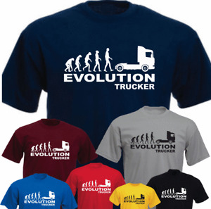 Ape Human Truck Trucker Evolution  Lorry HGV Driver New Funny T-shirt Gift