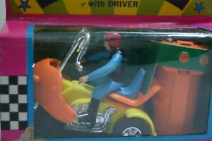 Vintage 70´s Battery Operated Remote Controlled Motorcycle Trike Chopper NIB Ye