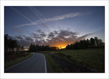 The Sheffield Lens - Sunset Road - photography giclee print various sizes