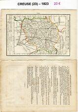 Dépt 23 - XIX ème Siècle Belle Petite Carte avec 1 Page de Renseignements  1823