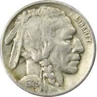 1925 5c Indian Head Buffalo Nickel US Coin F Fine