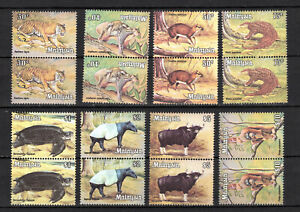 MALAYA MALAYSIA 1979 WILDLIFE ANIMALS COMPLETE SET IN PAIRS OF MNH STAMPS UN/MM