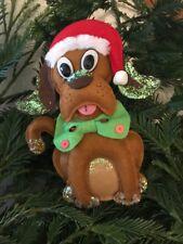 Addobbo albero di Natale cagnolino natalizio in pannolenci