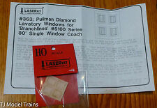 American Model Builders, Inc HO #363 Etched Windows for: 80' Branchline Coach