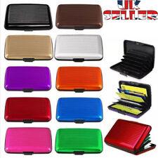 Metal RFID Blocking Wallet Slim Anti-Scan Credit Debit Card Holder ID Case UK ae