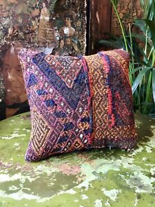 Vintage Kilim Covered Feather Filled Cushion Turkish/Moroccan/Afghan (No.5)