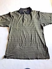 Marc Edwards Size Medium Men Polo Golf Shirt Black/Gray 100% Cotton