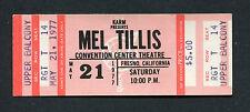 1977 Mel Tillis Unused Full Concert Ticket Fresno Ca Coca-Cola Cowboy