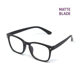 ANTI BLUE LIGHT BLOCKING Glasses Square Frame Eyeglass 100% UV Eye Blocker - Men