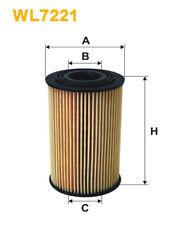 WIX WL7221 Car Oil Filter Eco Cartridge Replaces HU7153x CH8087 OX1271D