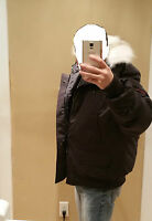 2018 LATEST ARRIVAL CONCEPT CANADA GOOSE CHILLIWACK BLACK XXL BOMBER PARKA